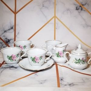 Tea Set Classic Traditional Floral Design